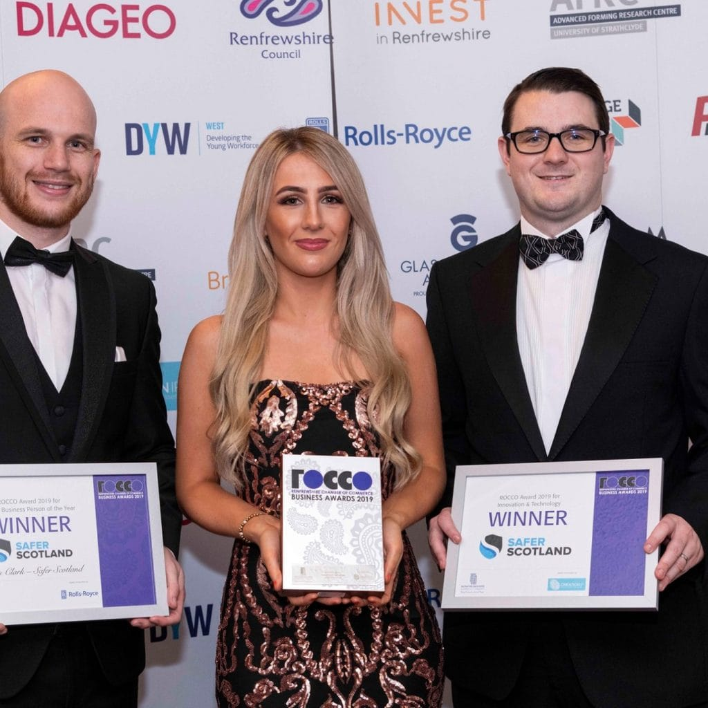 Safer Scotland Rocco Award Win Pic